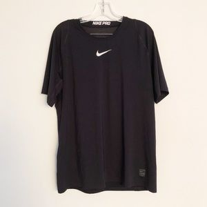 NIKE Pro Mens XL workout shirt with logo in front